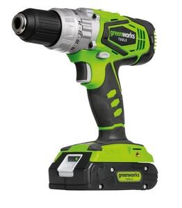 """Greenworks Akkuschlagbohrschrauber-Set 24 V """"inkl. Akku 2,0 Ah und Ladegerät, 56 Nm"""""""