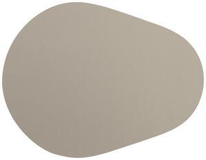 Tischset Jette aus Leder in Grau