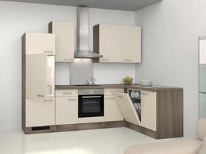 Eckküche in Magnolie inkl. Geräte und Spüle 'Eico'