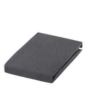 SPANNBETTTUCH Jersey Anthrazit bügelfrei, für Wasserbetten geeignet
