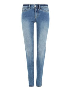 Damen Skinny Fit Jeans im Stone Washed Look