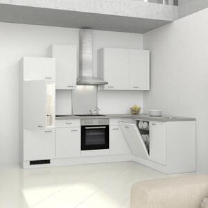 Eckküche in Weiss inkl. Geräte 'Wito'
