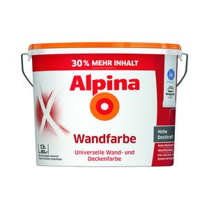 Alpina Wandfarbe weiß 13 l