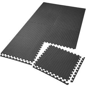 Bodenschutzmatte 8-tlg. schwarz