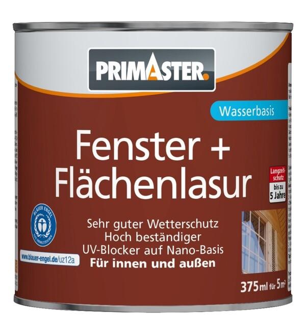 """PRIMASTER Fenster- und Flächenlasur SF924 """"375 ml, nussbaum"""""""