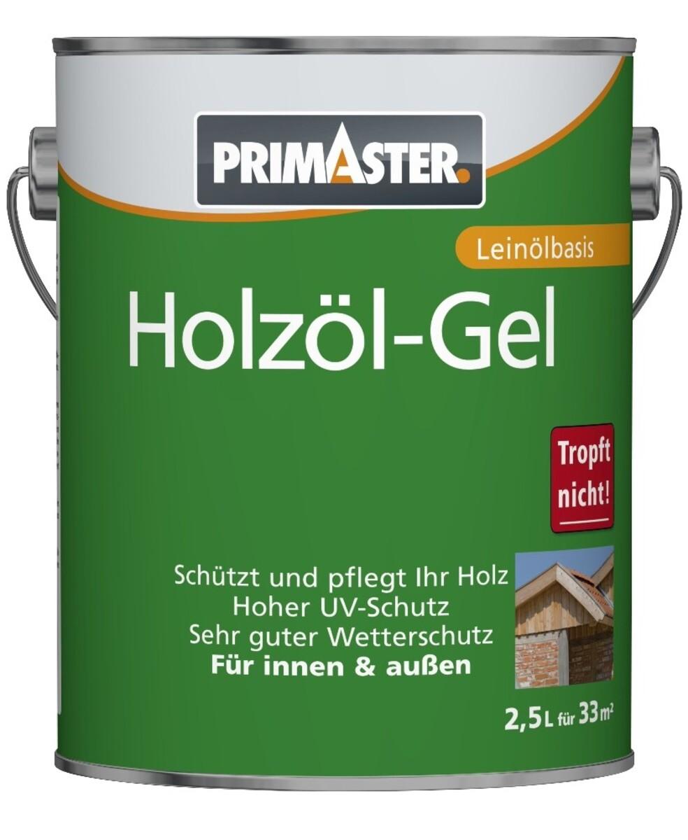 """Bild 1 von PRIMASTER Holzöl-Gel SF922 """"2,5 l, eiche, Leinölbasis"""""""