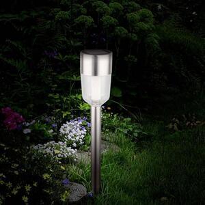 Polarlite Solar-Gartenleuchte 5er Set LED 0.5W Tageslicht-Weiß Edelstahl
