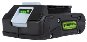 """Greenworks Lithium-Ionen Akku 24 V """"2 Ah, LED-Ladestandsanzeige, Gartengeräte und Werkzeuge"""""""