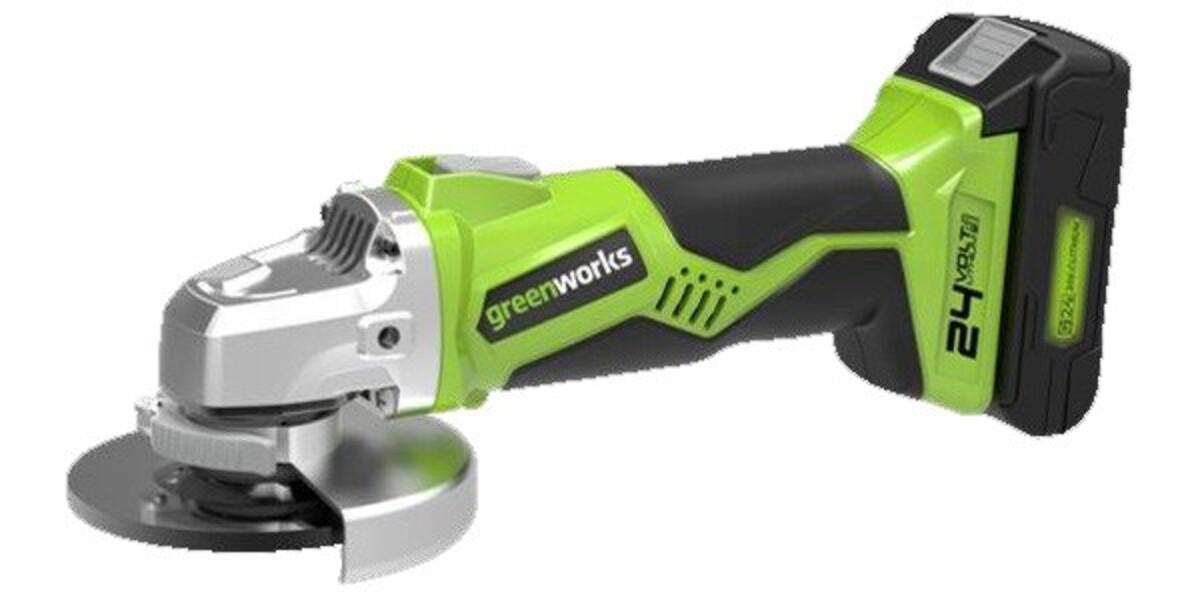 """Bild 1 von Greenworks Akku-Winkelschleifer 24 V """"ohne Akku und Ladegerät, 7.000 min-1"""""""