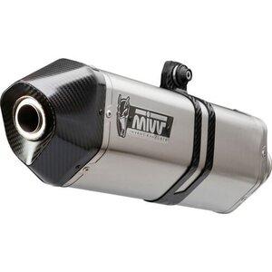 MIVV Speed Edge Auspuff silber H.048.LRX für Honda VFR 1200 Endschalldämpfer
