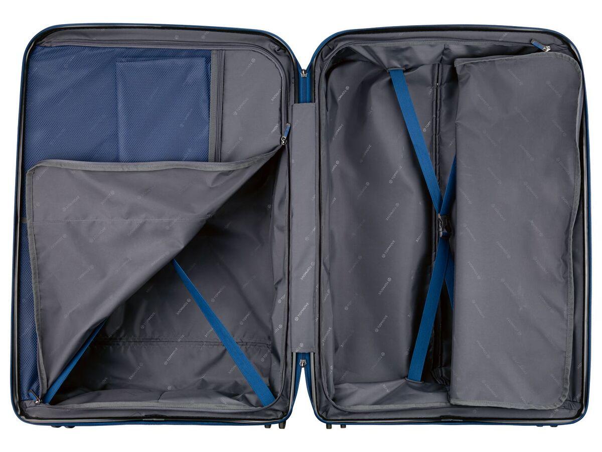 Bild 3 von TOPMOVE® Koffer, 90 L Volumen, bis 28 kg Füllgewicht, 4 Rollen, Polypropylen-Schale, blau