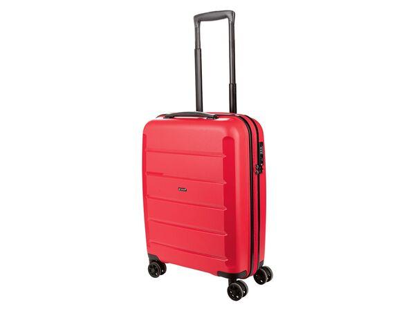 TOPMOVE® Koffer, 30 L Volumen, bis 10 kg Füllgewicht, 4 Rollen, Polypropylen-Schale, rot