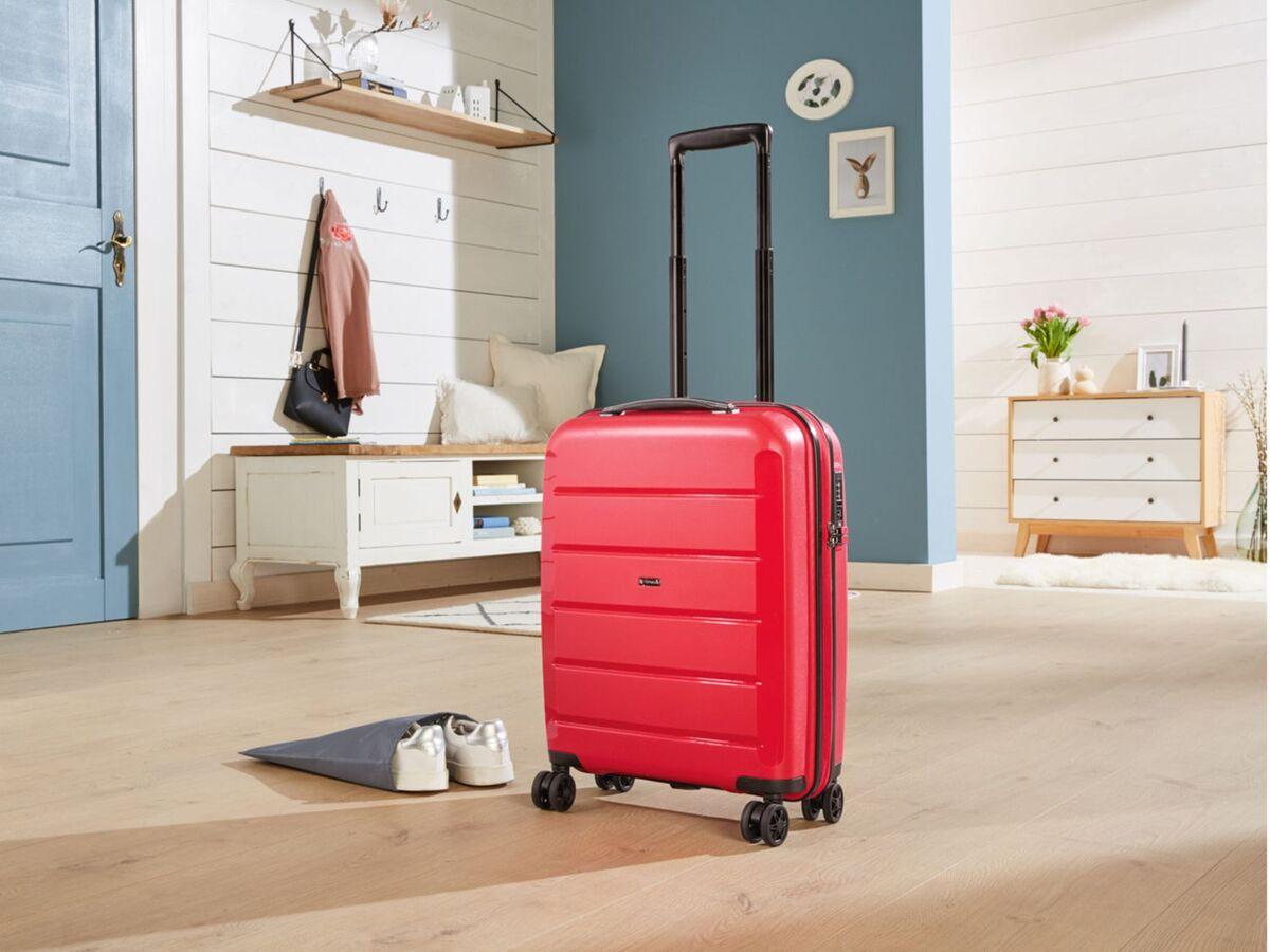 Bild 2 von TOPMOVE® Koffer, 30 L Volumen, bis 10 kg Füllgewicht, 4 Rollen, Polypropylen-Schale, rot