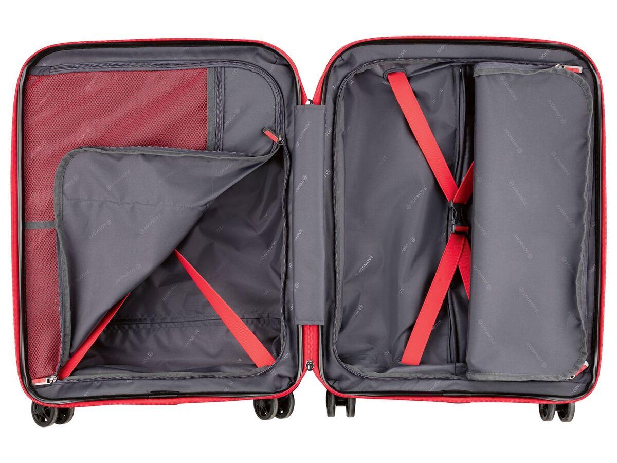 Bild 5 von TOPMOVE® Koffer, 30 L Volumen, bis 10 kg Füllgewicht, 4 Rollen, Polypropylen-Schale, rot