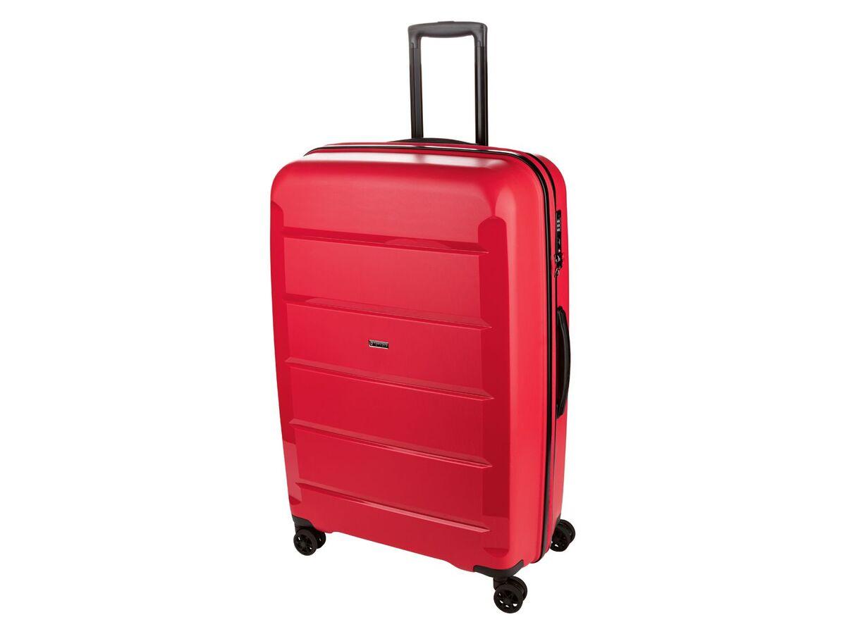 Bild 1 von TOPMOVE® Koffer, 90 L Volumen, bis 28 kg Füllgewicht, 4 Rollen, Polypropylen-Schale, rot