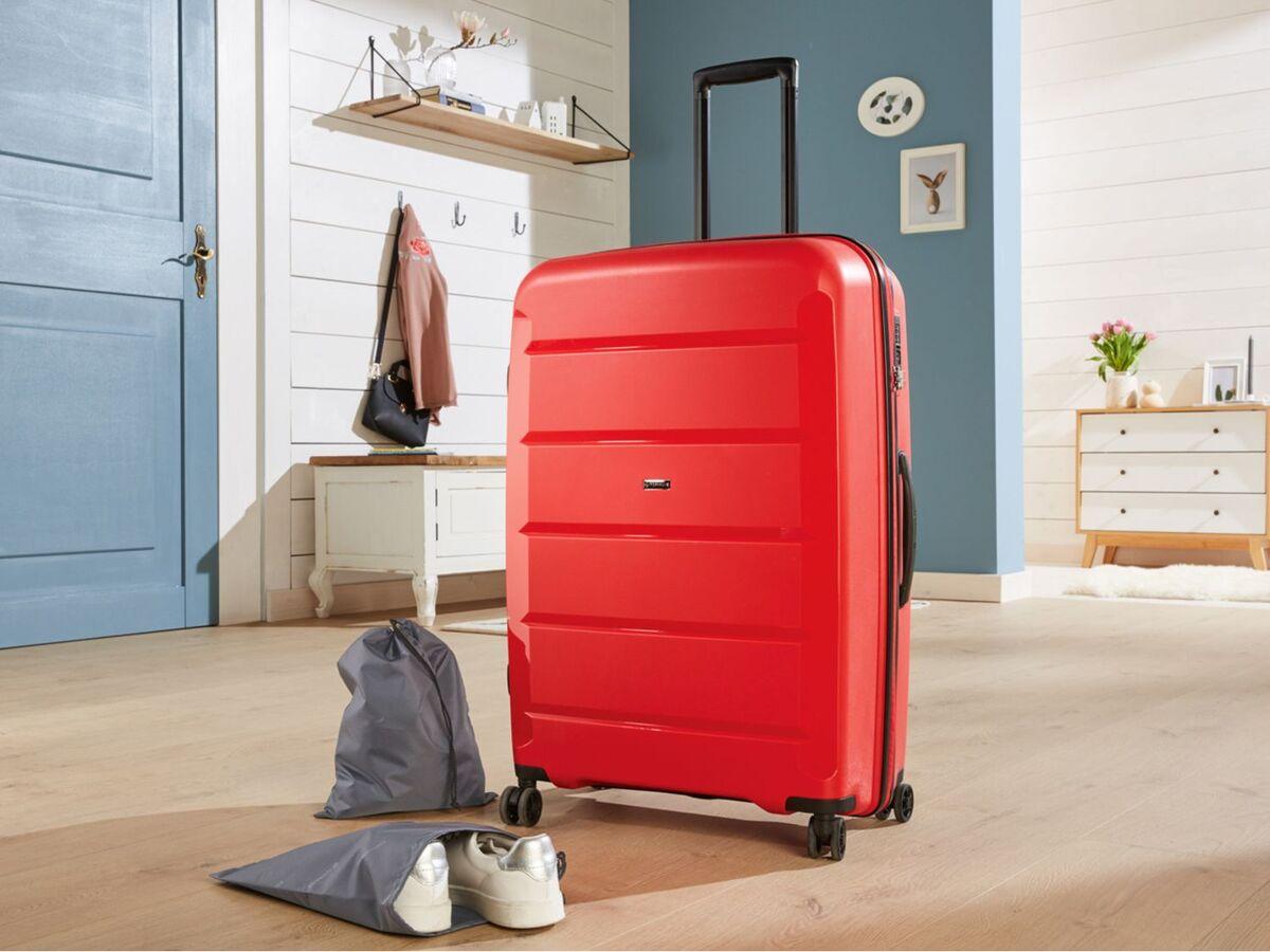 Bild 2 von TOPMOVE® Koffer, 90 L Volumen, bis 28 kg Füllgewicht, 4 Rollen, Polypropylen-Schale, rot