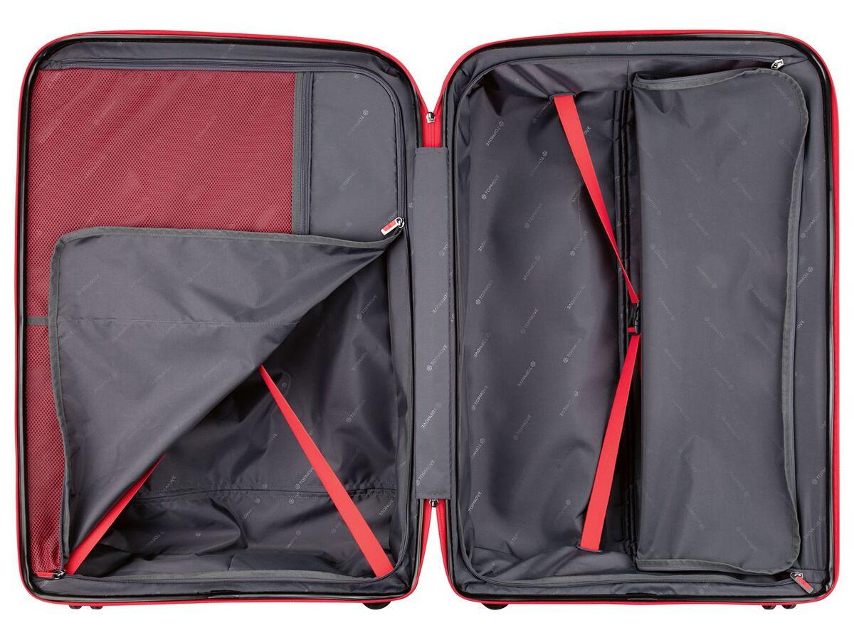 Bild 4 von TOPMOVE® Koffer, 90 L Volumen, bis 28 kg Füllgewicht, 4 Rollen, Polypropylen-Schale, rot