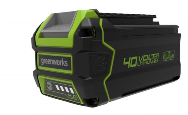 Greenworks 40 V Li-Ion Akku ,  4 Ah, LED-Ladestandsanzeige, Gartengeräte und Werkzeuge