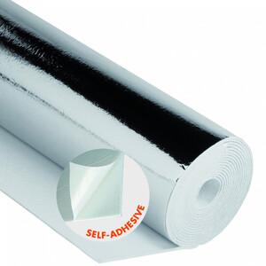 Alukaschierte Polystyrol Heizkörper-Reflexionsfolie 0,5x5m selbstklebend