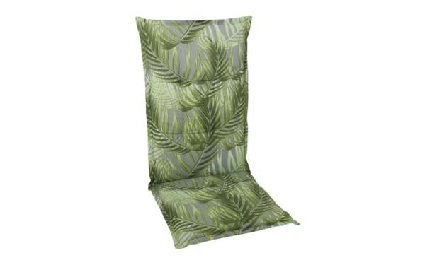 GO-DE - Garten-Sesselauflage Hochlehner in grün mit Motiv Palmen