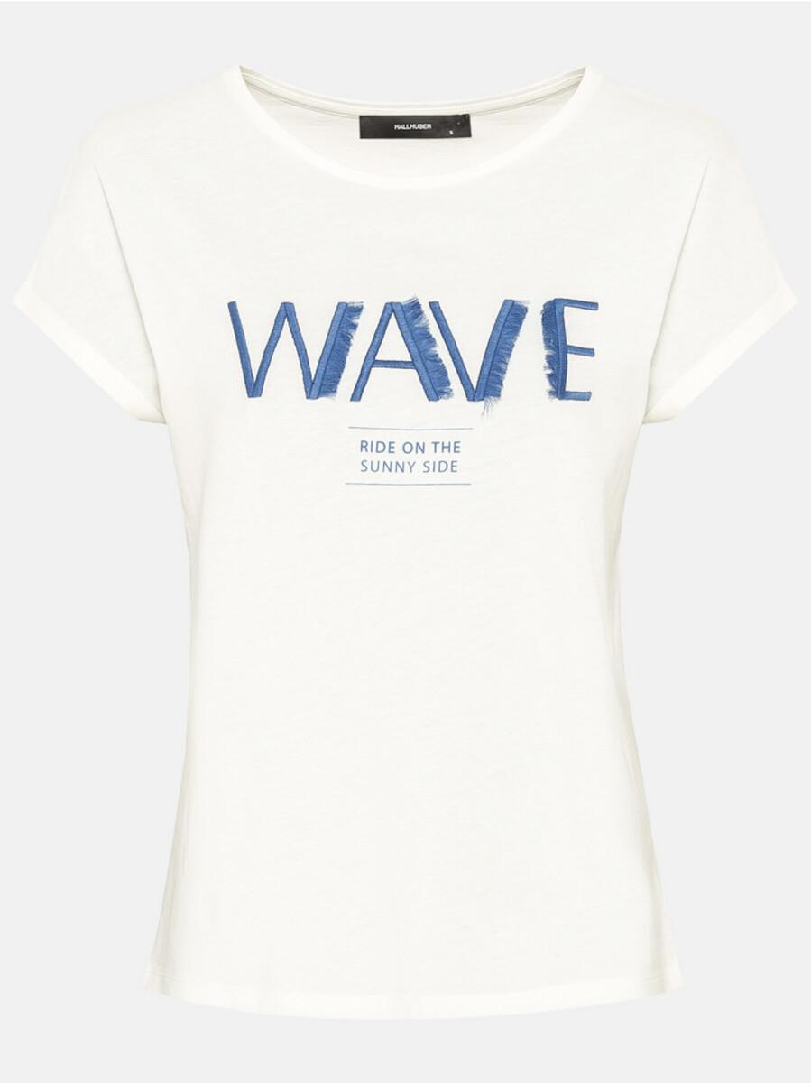 Bild 3 von Hallhuber Shirt mit Fransenstickerei für Damen in offwhite