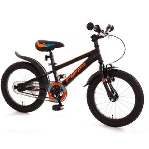 Fahrrad - PEPP - 16 Zoll - matt schwarz/neon orange