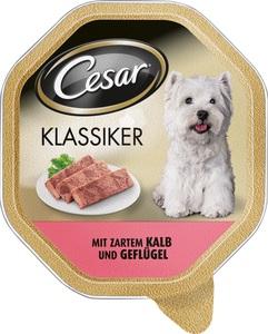 Cesar Klassiker mit Kalb und Geflügel Hundefutter nass 150 g