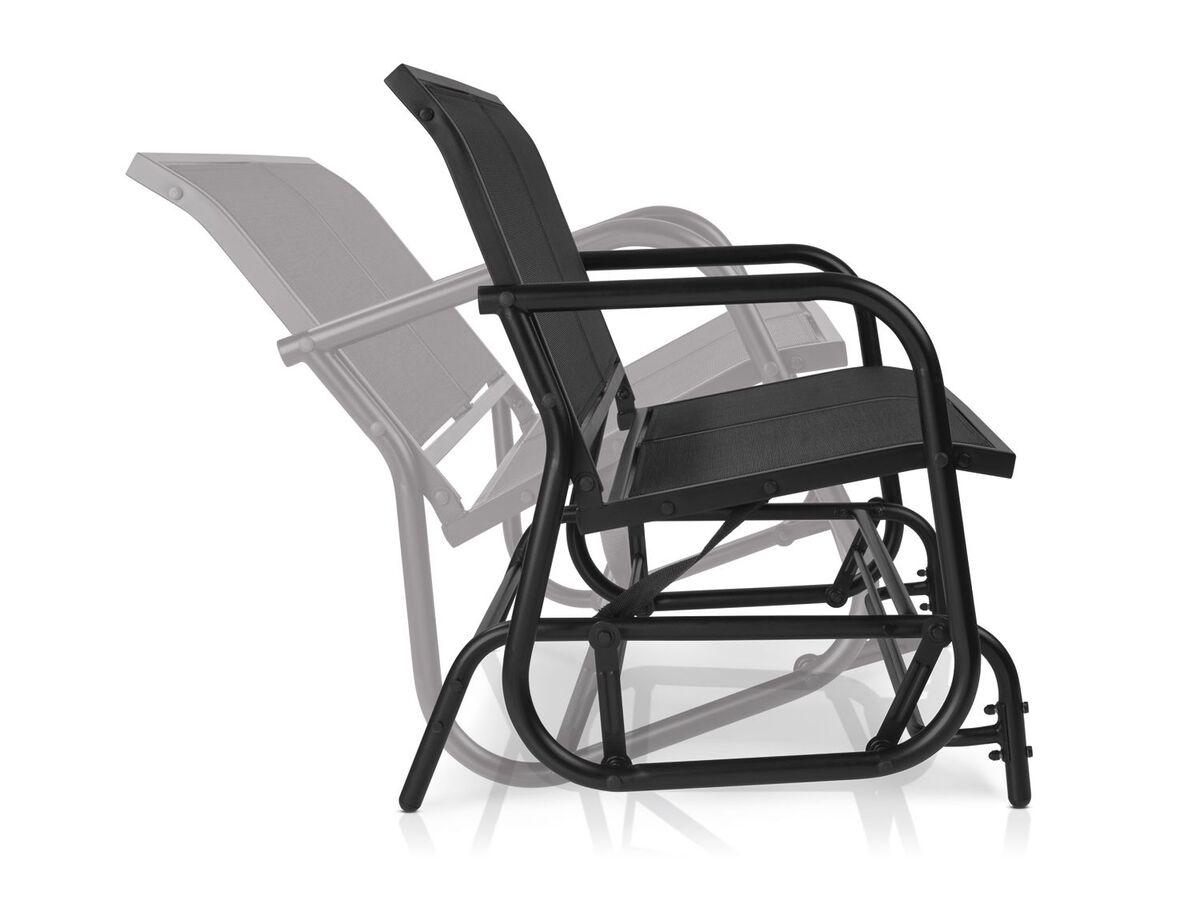 Bild 2 von FLORABEST Schaukelbank, 2-Sitzer, 220 kg Belastbarkeit, mit Textilbespannung, aus Aluminium