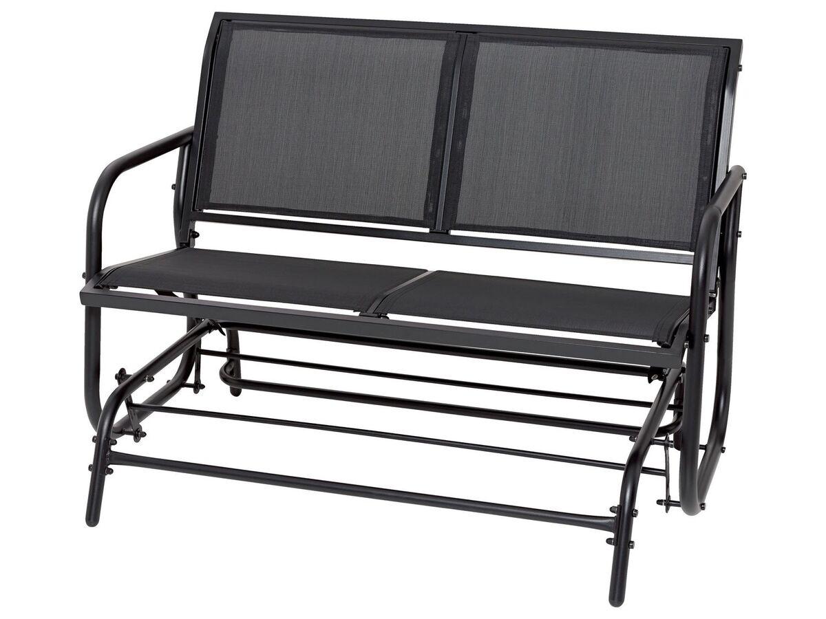 Bild 3 von FLORABEST Schaukelbank, 2-Sitzer, 220 kg Belastbarkeit, mit Textilbespannung, aus Aluminium