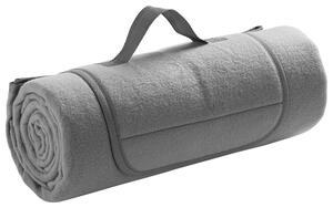 Picknickdecke Uni in Grau ca. 125x150cm