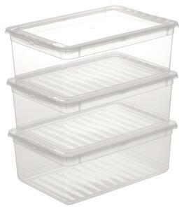 Aufbewahrungsboxen-Set Beate 3-teilig ca. 11 l