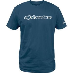 Alpinestars            T-Shirt Wordmark Tee blau/weiß