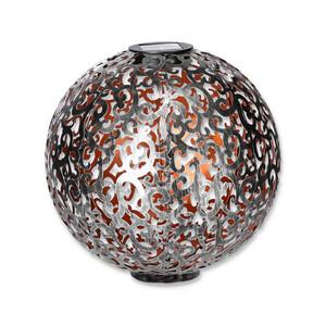 toom LED-Solarkugel 'Antik' Ø 30 cm silbern