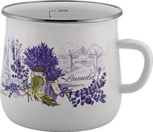 Casa Royale Retro-Emaille Milchtopf Lavendel, Ø14 cm