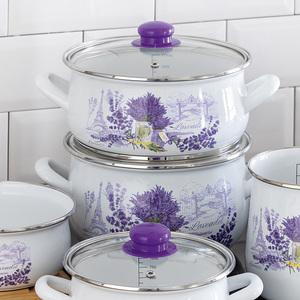 Casa Royale Retro-Emaille Fleischtopf Lavendel, Ø20 cm