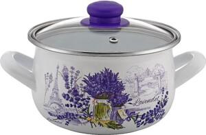 Casa Royale Retro-Emaille Fleischtopf Lavendel, Ø16 cm