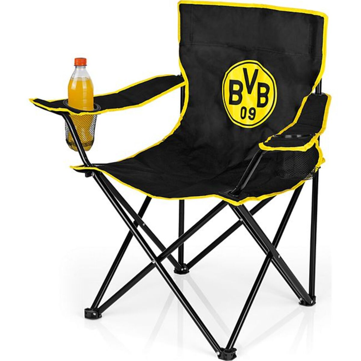 Bild 1 von BVB Campingstuhl faltbar 80x50cm schwarz/gelb mit Logo