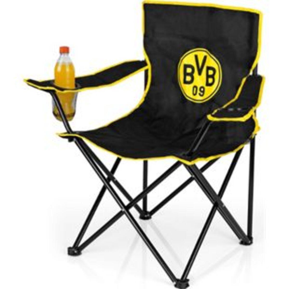 Bild 2 von BVB Campingstuhl faltbar 80x50cm schwarz/gelb mit Logo