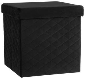 Faltbox Velvet in Schwarz