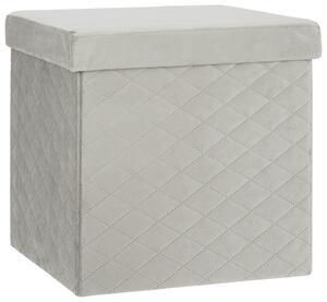 Faltbox Velvet in Grau