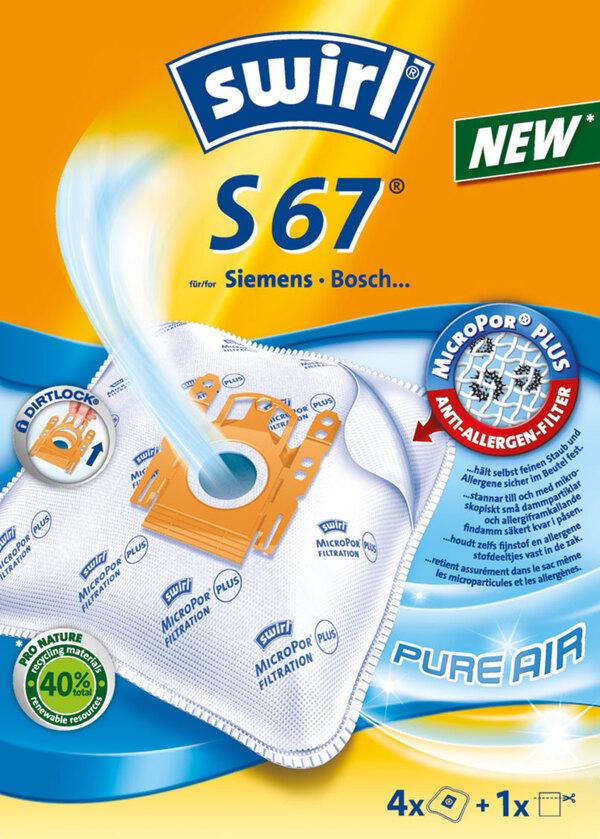 Swirl Staubsaugerbeutel S67 MicroPor® PLUS PureAir 4 Stück