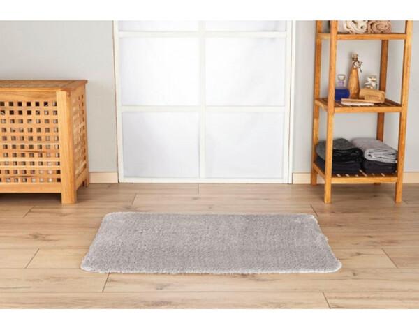 Badmatte Cotton-Touch 60 x 90 cm silber