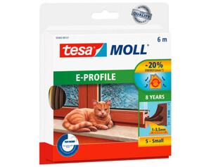 tesamoll® E-Profil-Gummidichtung ca. 6 m x 9 mm x 4 mm braun