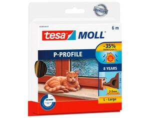 tesamoll® P-Profil-Gummidichtung  ca. 6 m x 9 mm x 5,5 mm braun