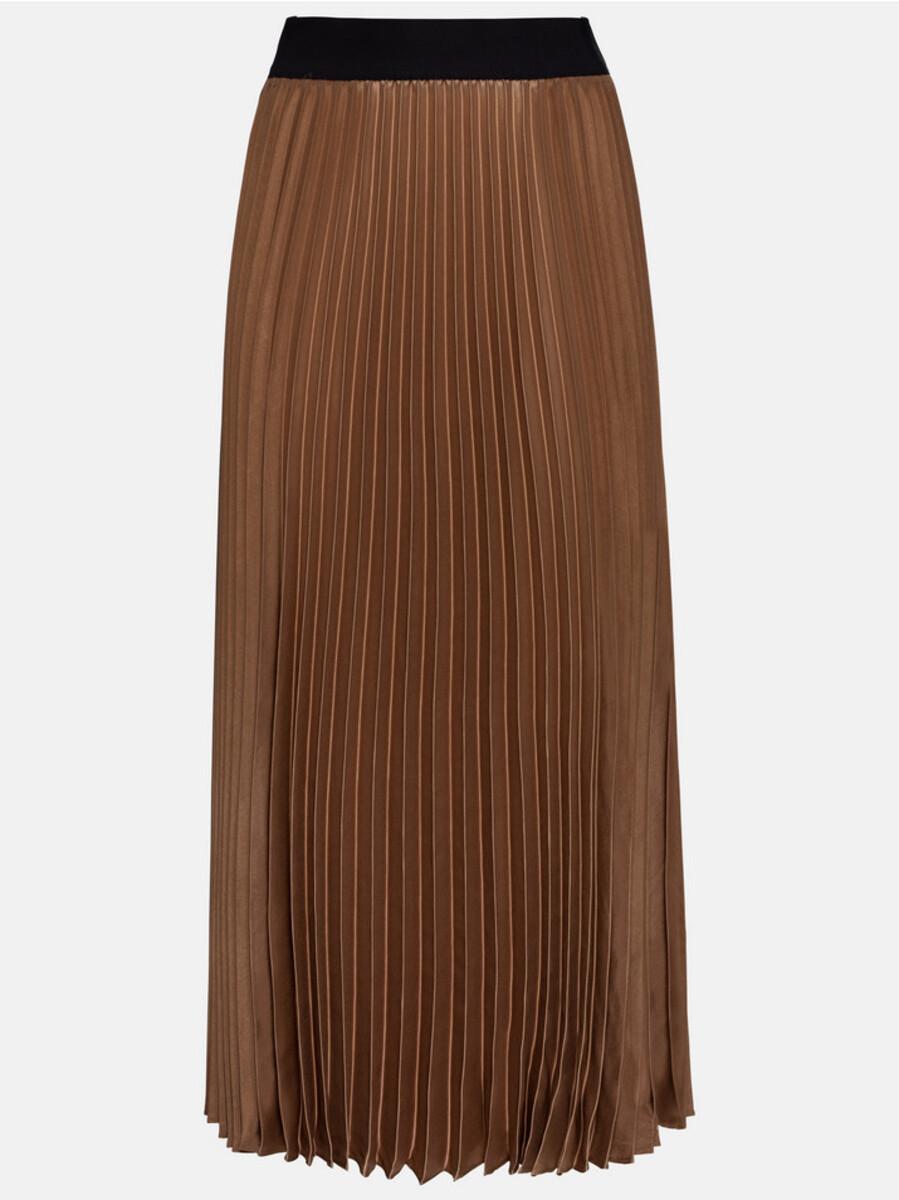 Bild 3 von Hallhuber Plisseerock mit Kontrastbund für Damen in karamell