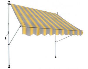 Klemm-Markise, gelb grau gestreift, ca. 250 x 150 cm