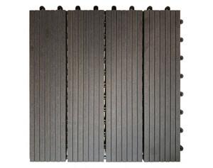 WPC-Terrassenfliese 6-er Pack grau ca. 30 x 30 x 2,1 cm