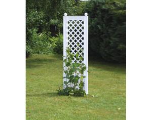 KHW Spalier 37801 mit Erdspießen weiß, Breite ca. 43 cm
