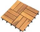 Bild 1 von Holz-Terrassenfliese, 10-er Pack, Akazie, ca. 30 x 30 x 2,3 cm