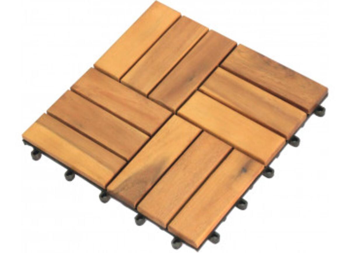 Bild 2 von Holz-Terrassenfliese, 10-er Pack, Akazie, ca. 30 x 30 x 2,3 cm